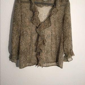Selene sport leopard print shirt. Size L